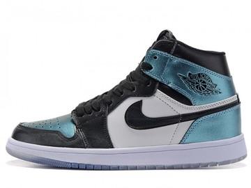 Vente avec paiement en ligne: Femme/Homme Nike Air Jordan 1 Noir/Blanc/Bleu