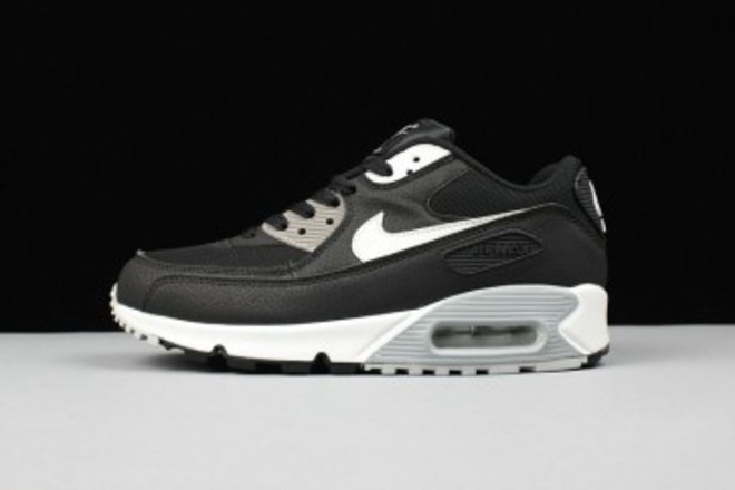 on sale b3ae5 33101 Femme Homme Nike Air Max 90 Noir Gris Blanc