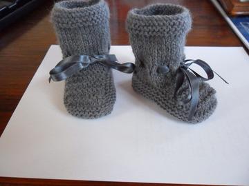 Sale retail: chaussons bébé 0/6 mois couleur gris