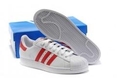 Vente avec paiement en ligne: Femme Adidas Originals Superstar blanc
