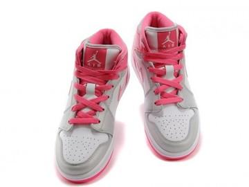 Vente avec paiement en ligne: Femme Nike Air Jordan 1 Blanc/Rose