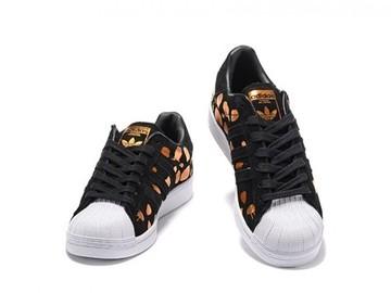 Vente avec paiement en ligne: Femme/Homme Adidas Originals Superstar Noir/Jaune