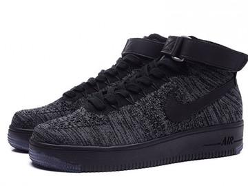 Vente avec paiement en ligne: Femme/Homme Nike Air Force 1 Noir