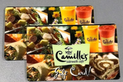 Buy Now: Lot of 25 Camilles Sidewalk Cafe gift cards $20 each