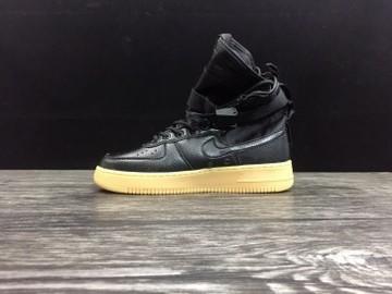 Vente avec paiement en ligne: Femme/Homme Nike Air Force 1 Noir/Jaune