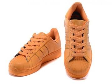 Vente avec paiement en ligne: Femme Adidas Originals Superstar Orange