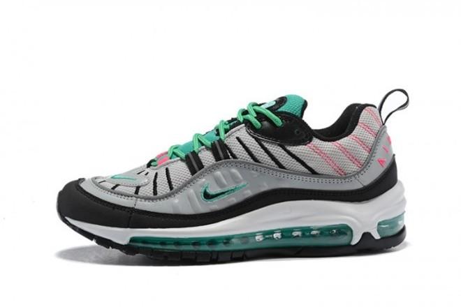 Femme/Homme Nike Air Max 98 Gris/Vert - lebonmarket