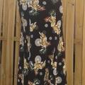 Vente au détail: jupe flamenco noir jaune et blanc
