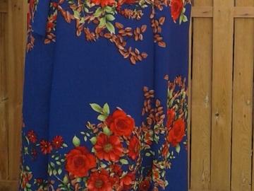 Sale retail: jupe longue porte feuille motif floral