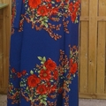 Vente au détail: jupe longue porte feuille motif floral