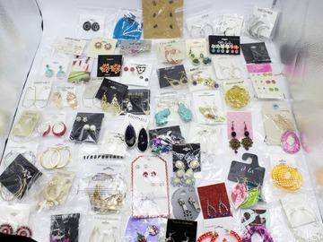 Liquidation/Wholesale Lot: 100 Pair Lot New Department Store Earrings  High Value