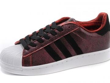 Vente avec paiement en ligne: Femme/Homme Adidas Originals Superstar rouge