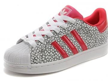 Vente avec paiement en ligne: Homme Adidas Originals Superstar Noir-Blanc-Rouge