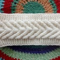 Vente au détail: Bandeaux et turbans ecru/Bandeau torsadé en laine/Bandeau en
