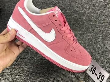Vente avec paiement en ligne: Femme Nike Air Force 1 Blanc/Rouge