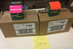 Buy Now: Duck Tape in bright neon Pink and Orange 25 of each NEW