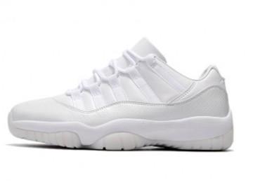 Vente avec paiement en ligne: Homme Nike Air Jordan 11 Blanc