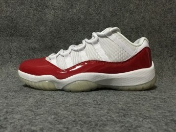 Vente avec paiement en ligne: Femme/Homme Nike Air Jordan 11 Blanc/Rouge