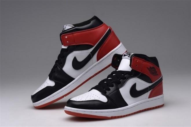 Homme Nike Air Jordan 1 Noir/Blanc/Rouge - lebonmarket