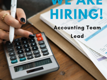 Help Needed: I'm hiring an Accounting Team Lead