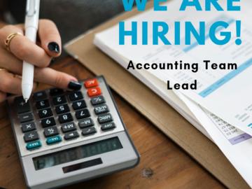 Help Needed: I'm hiring an Accounting Team Lead