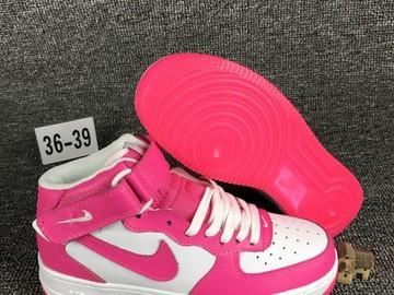 Vente avec paiement en ligne: Femme Nike Air Force 1 Blanc/Rose