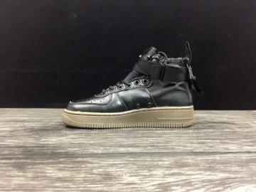 Vente avec paiement en ligne: Femme/Homme Nike Air Force 1 Noir/Vert