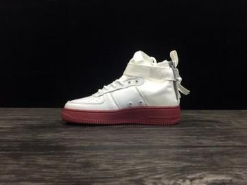 Vente avec paiement en ligne: Femme/Homme Nike Air Force 1 Blanc/Rouge