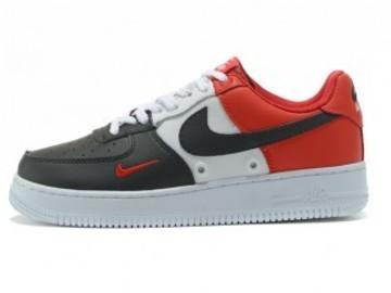 Vente avec paiement en ligne: Femme/Homme Nike Air Force 1 Noir/Blanc/Rouge