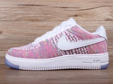 Vente avec paiement en ligne: Femme Nike Air Force 1 Ultra Flyknit Rose/Blanc