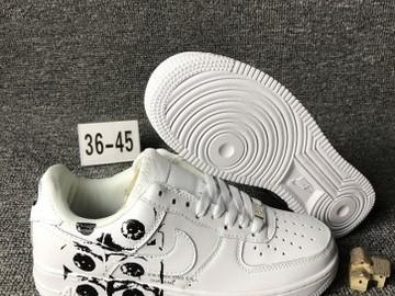 Vente avec paiement en ligne: Femme/Homme Nike Air Force 1 Blanc/Noir