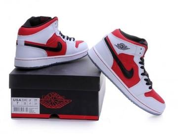 Vente avec paiement en ligne: Femme/Homme Nike Air Jordan 1 Rouge/Blanc/Noir