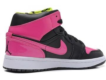 Vente avec paiement en ligne: Femme Nike Air Jordan 1 Rouge/Noir