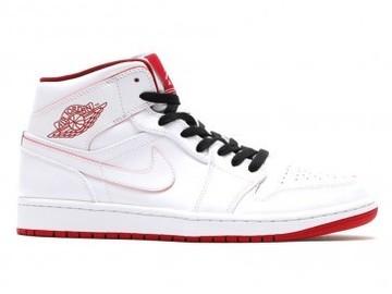 Vente avec paiement en ligne: Femme/Homme Nike Air Jordan 1 Blanc