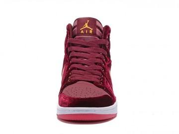 Vente avec paiement en ligne: Femme/Homme Nike Air Jordan 1 Rouge
