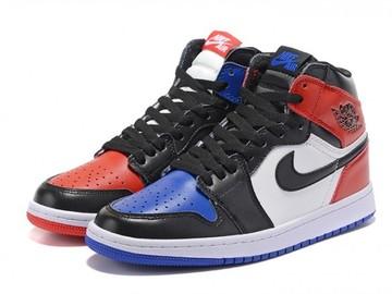 Vente avec paiement en ligne: Femme/Homme Nike Air Jordan 1 Noir/Blanc/Rouge/Bleu