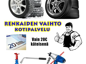 Selling: Tire change at your place.