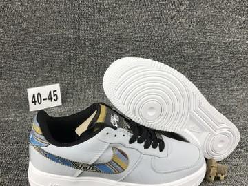 Vente avec paiement en ligne: Homme Nike Air Force 1 Gris/Blanc