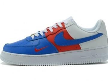 Vente avec paiement en ligne: Femme/Homme Nike Air Force 1 Bleu/Rouge/Blanc