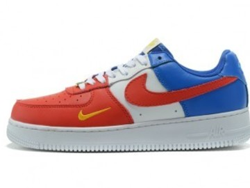 Vente avec paiement en ligne: Femme/Homme Nike Air Force 1 Rouge/Blanc/Bleu