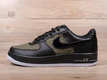 Vente avec paiement en ligne: Homme Nike Air Force 1 Noir/Vert