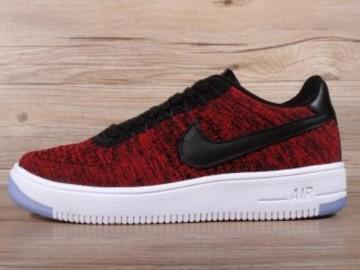 Vente avec paiement en ligne: Femme/Homme Nike Air Force 1 Rouge