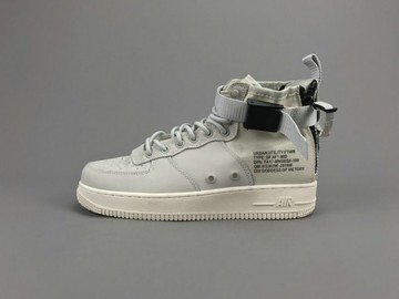 Vente avec paiement en ligne: Femme/Homme Nike Air Force 1 Gris