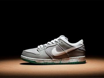 Vente avec paiement en ligne: Homme Nike Dunk SB Gris/Blanc