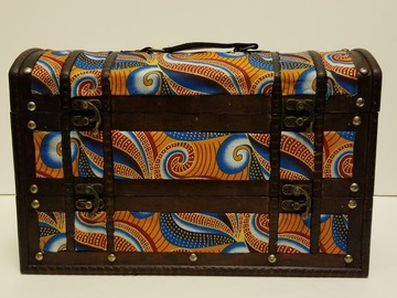 Selling with online payment: African Print Double Wine Bottle Holder (Orange)