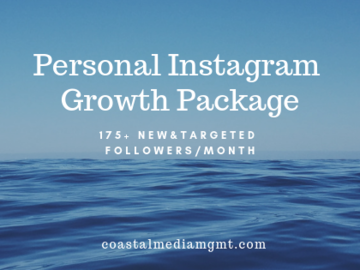 Social Media Management - Per hour, day, week, month: Personal Instagram Growth 175+ followers/month