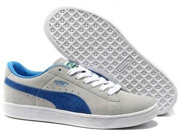 Vente avec paiement en ligne: Homme Puma Suede Classic Blanc/Bleu