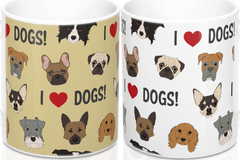 Selling: Free Shipping - Dog Lovers Mug - Gift for Dog Owners