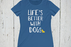 Selling: Free Shipping - Dog Lovers Women's T-Shirt Short Sleeve
