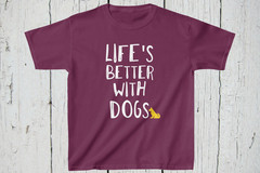 Selling: Free Shipping Dog Lover's Kids Unisex T-Shirt